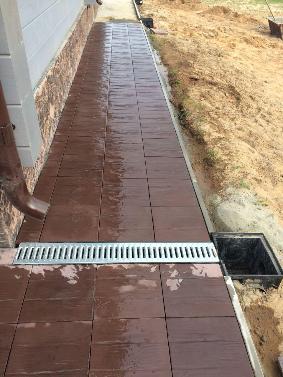 Тротуарная плитка 3 доски
